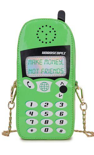 Retro Yeşil Cep Telefonu Çanta