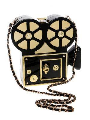 Gold Projektör Şeklinde Tasarım Çanta