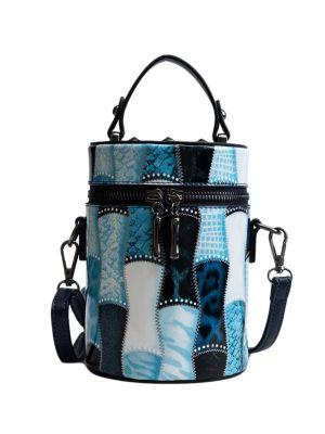 Mavi Silindir Çanta