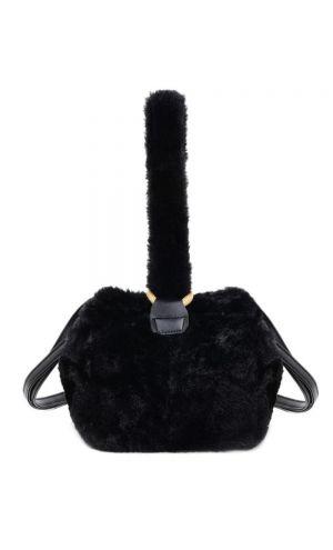 Siyah Peluş Çanta
