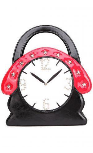 Büyük Çalar Saat Tasarımlı Çanta